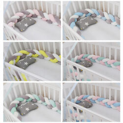 Kyпить Crib Protector Baby Bed Bumper 3-Strand Knot Newborn Cushions Home Decor Pillow на еВаy.соm