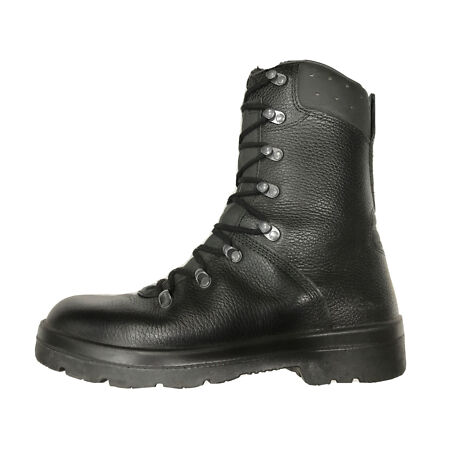 img-German Army Para Boots Genuine Military Surplus Combat Leather Black *Grade 1*