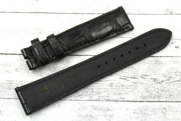 ItalieTUDOR Watch Strap Real Leather  Total Black 20/16mm New