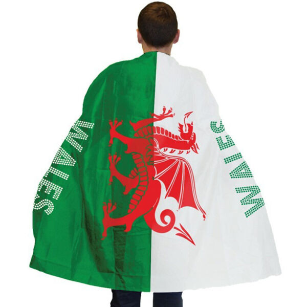 Royaume-UniWelsh Flag Cape Red Dragon Wearables St Davids Day Fancy Dress