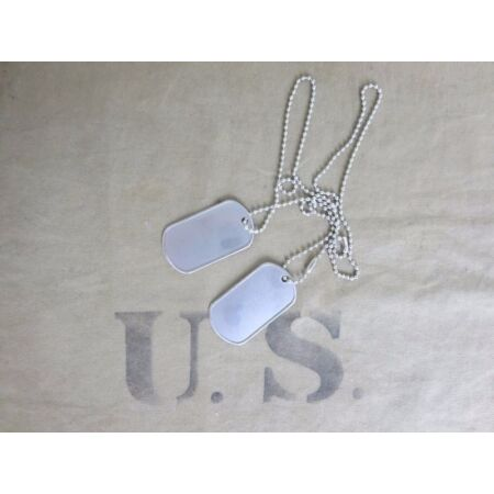 img-US Army Id Dog Tags Dog Tag + Chain Vietnam 1961 Usmc Marines Navy Blanc
