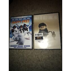 2 DVD Lot NEW Where the Wild Things Are & Happy Feet Both Sealed And Brand New