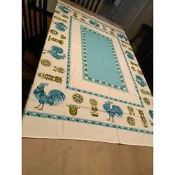 Kyпить Mid Century Modern Turquoise Country Farmhouse Tablecloth на еВаy.соm