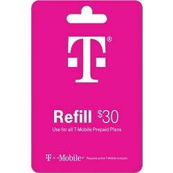 Kyпить T-Mobile Prepaid $30 Refill Card Air Time/Top-Up/Recharge/Add-On/PIN/Refill на еВаy.соm