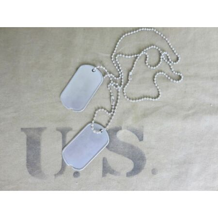 img-US Army Id Dog Tags Dog Tag + Chain Vietnam Nam Usmc Marines Navy Blanc