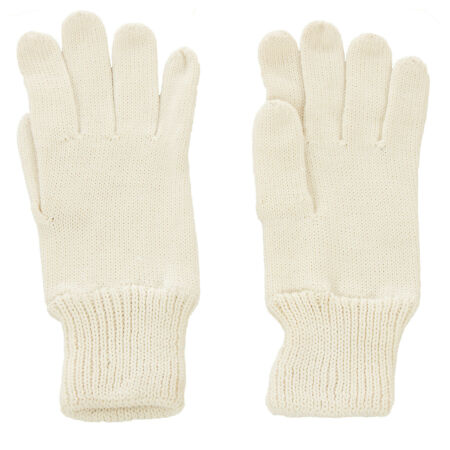 img-Genuine Czech Army Issue Combat Winter Knitted Wool Gloves - White - Unused