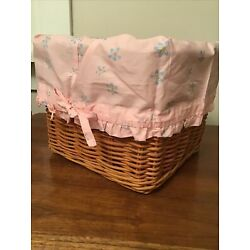 Pottery Barn Kids Floral Ruffle Basket Liner, Qty 2, Basket Not Included