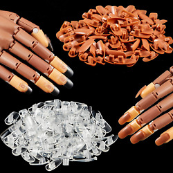 Kyпить 200 Pieces Replacement Nail Tips for Nail Manicure Training Practice Hand на еВаy.соm