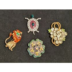 Kyпить Assorted Vintage Costume Brooches Lot of 4 на еВаy.соm