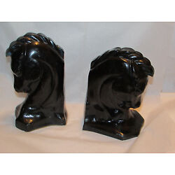 Kyпить Vintage Mid-Century Acrylic HORSE Head BOOKENDS Lucite Resin на еВаy.соm