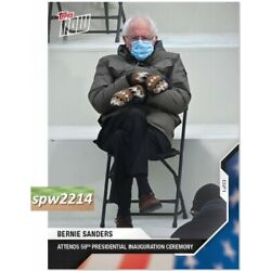 Kyпить 2020 Topps Now Election #21 Bernie Sanders Attends Presidential Inauguration на еВаy.соm