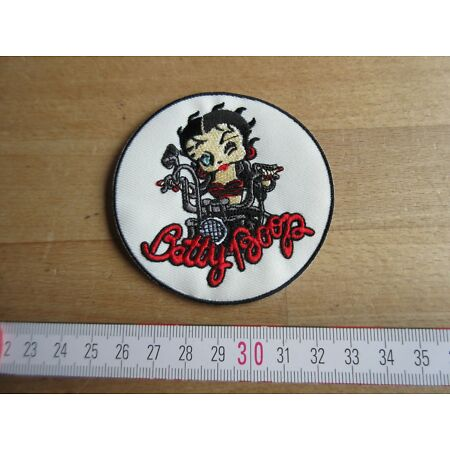 img-Betty Boop Biker Pin-Up Wasp Wac Patch Jacket US Army Rockabilly WWII Nose Art