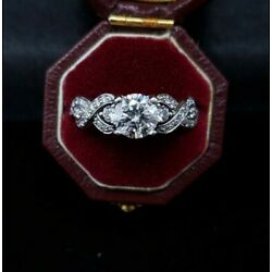 Kyпить White Gold 14k 1 ct Graded Center Stone 1.5 TCW Engagement Ring Vintage на еВаy.соm
