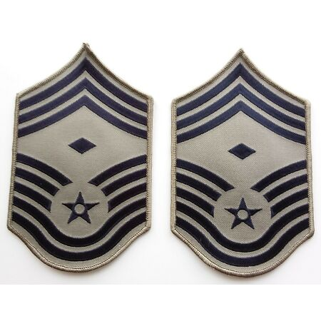 img-US AIR FORCE RANK PATCHES PAIR Chief Master Sergeant First Sgt ACU Uniform Badge