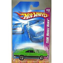 2008 Hot Wheels #135 Team: Muscle Mania 3/4 '69 DODGE CHARGER Green w/5 Spokes