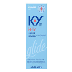 K-Y Jelly Personal Water Based Lubricant For Women, Men & Co , 2 Oz, 1 Pack