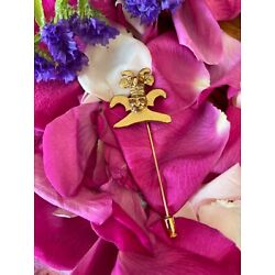Kyпить Vintage Aztec or Native American Indian Bird Hat Scarf Pin In Gold Hand Made на еВаy.соm