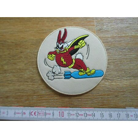 img-Patch US Airforce 15th Bomb Squad Rabbit Riding A2 G1 Leather Jacket Army USAAF