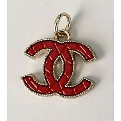 Kyпить Red Stamped Chanel Zipper Pull Button Charm на еВаy.соm