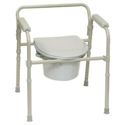 Kyпить ProBasics 3-in-1 Folding Bedside Commode 350lb Capacity Safety Frame Medical  на еВаy.соm