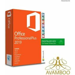 Kyпить Microsoft Office 2019 Professional Plus Vollversion Lizenz Key für Windows на еВаy.соm