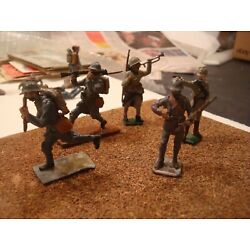 Kyпить WW1 FRENCH ARMY ATTACKING SET VINTAGE TIN LEAD SOLDIERS PAINTED FIGURE 54MM 1:32 на еВаy.соm