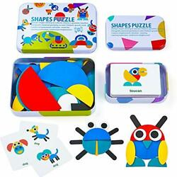 Kyпить  Wooden Pattern Blocks Animals Jigsaw Puzzle Sorting and Stacking Games  на еВаy.соm