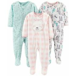 Kyпить  Baby and Toddler Girls' 3-Pack 12 Months Pink Deer/Blue Snowflakes/Pink Check на еВаy.соm