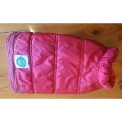 American Kennel Club Pet Dog Red Puffer Jacket Sleeves Size Small