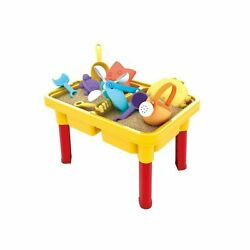 Kids Sand and Water Table - Beach Play Activity Table Sandbox with Cover for ...