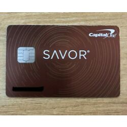 Kyпить closed Capital One Savor card - METAL - RARE на еВаy.соm