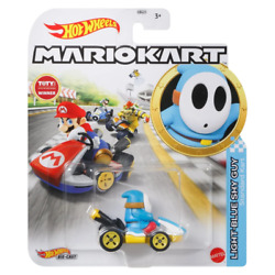 Kyпить [Pre-Order] Light Blue Shy Guy Standard Kart - Mario Kart - Hot Wheels (2021) на еВаy.соm