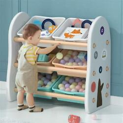 Kyпить Kids' Toy Storage Organizer with 6 Removable Plastic Bins and Rounded Corners на еВаy.соm