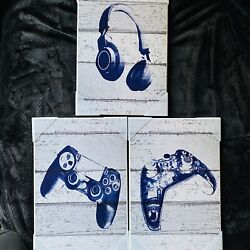 Kyпить PlayStation Video Game Trio Headset & 2 Controllers Wall Art By Stupell Graphics на еВаy.соm