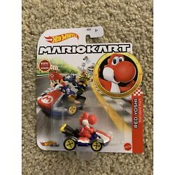Kyпить Hot Wheels MarioKart Red Yoshi Standard Kart by Mattel на еВаy.соm