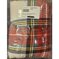 Kyпить Pottery Barn Teen Morgan Plaid Sherpa Sham, Red Multicolor, Free Shipping на еВаy.соm