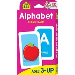 Alphabet Flash Cards Kids Educational Learning Cards Preschool Picture Letter