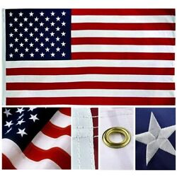 Kyпить 3x5 US American Flag MADE IN USA Embroidered Stars Sewn Stripes Grommets Nylon на еВаy.соm