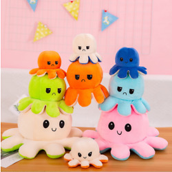 Kyпить Octopus Reversible Plushie Cute Flip Soft Toys Plush Happy Sad Mood Stuffed Gift на еВаy.соm