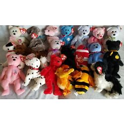 Kyпить LOT of 20 TY BEANIE BABIES, Rare, Retired Mint Condition w/ Tags, No Duplicates на еВаy.соm