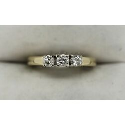 Kyпить Beautiful 14K Yellow Gold 1/2ct 3-Stone Diamond Ring Sz 8 (3.26g) на еВаy.соm