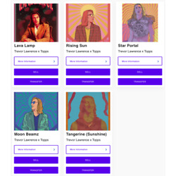 Trevor Lawrence x Topps NFT Full Open Edition Collection Bundle ALL FIVE