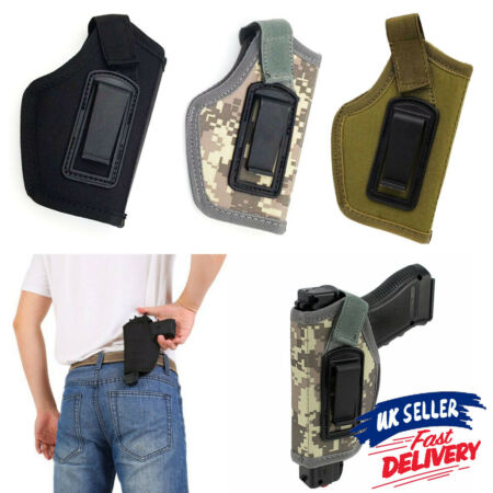img-Police Gun Concealed Carry Hold Waist Belt Pistol Holster Army Tactical Military