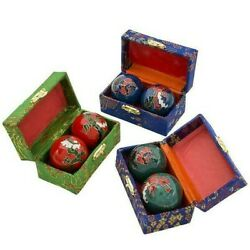 DRAGON CHINESE BAODING CHIMES HEALTH STRESS RELIEF THERAPY BALLS #AA42