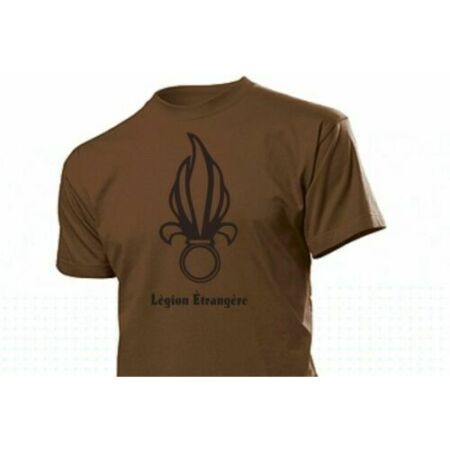 img-T-Shirt Foreign Legion Foreign With Flaming Grenade Badge 3-5XL