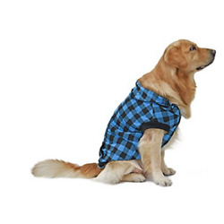 PAWZ Road Large Dog Size Small Plaid Shirt Coat Hoodie Pet Winter Clothes