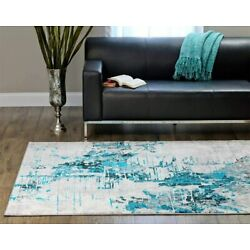 Kyпить Bedroom Abstract Turquoise Carpet Contemporary Area Rug Interior Top Quality Rug на еВаy.соm