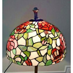 Kyпить Large Tiffany Style Stained Glass Table, Floor or Hanging Lamp Shade Old Ornate на еВаy.соm