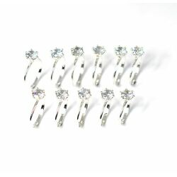Kyпить WHOLESALE 11PC 925 SOLID STERLING SILVER FACETED CUBIC ZIRCONIA RING LOT 1 J709 на еВаy.соm
