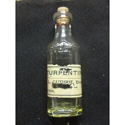 Kyпить OLWEIN IOWA TURPENTINE  BOTTLE PAPER LABEL L GUTHRIE EMBOSSED QUALITY PURITY OZ на еВаy.соm